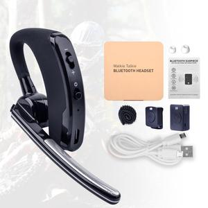 Image 5 - Walkie Talkie Wireless Headset PTT Bluetooth Earphone with Mic M Plug Wireless headphone Handsfree for Moto Ham Station