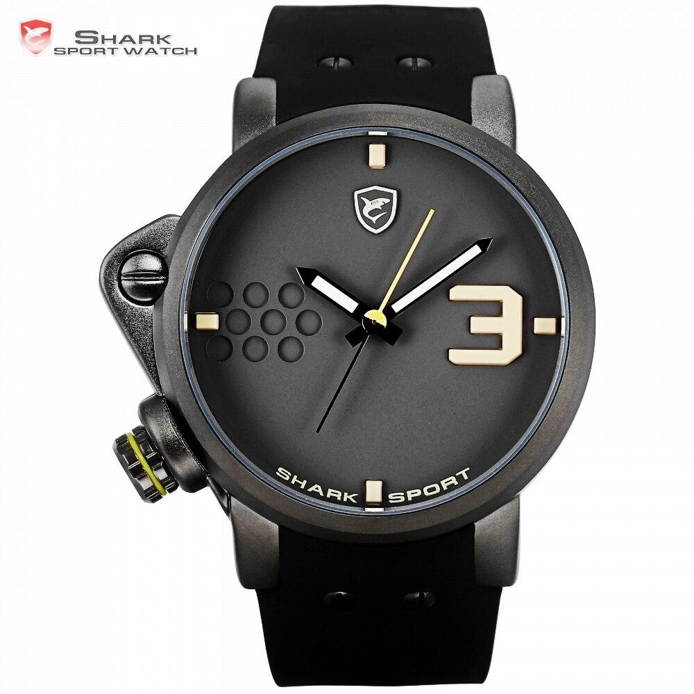 fba0c6e3092 Relógio Do Esporte de Salmon SHARK homem Marca de topo Luxo Quartzo Amarelo  Silicone Relogio de À Prova D  Água  SH519 em Relógios de quartzo de  Relógios no ...