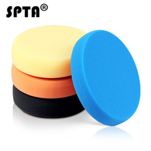 SPTA 7inch (180mm) Light Cut ,Heavy Cut,And Finish Buffing Polishing Pads Kit Set For RO/DA Car Polisher Mix Color -select color
