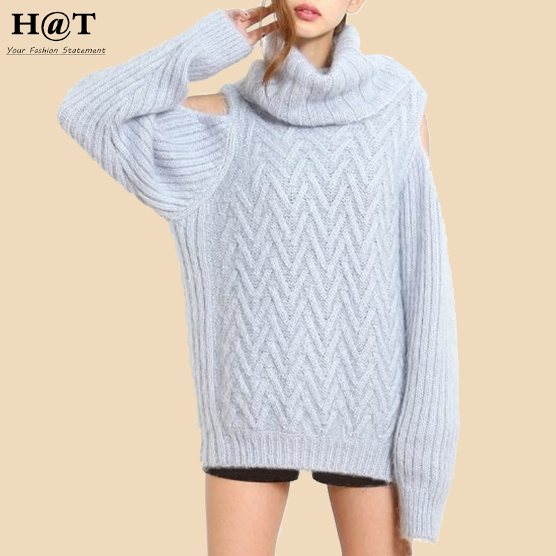 SW133 Celebrity Style Women's Off Shoulder Turtlneck Roll Neck Autumn Sweater  Cable Knitted Feminine Pullover Knitwear - Popular Wool Cable Knit Sweater-Buy Cheap Wool Cable Knit Sweater