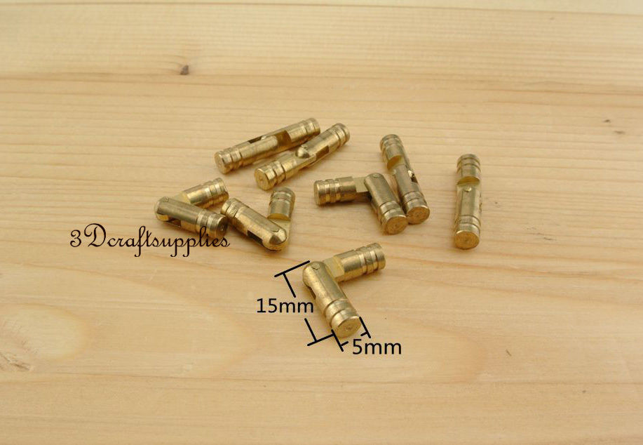 Металлические петли cylindrial шкатулка деревянная создание анти латунь 15 мм 10 шт. AT28