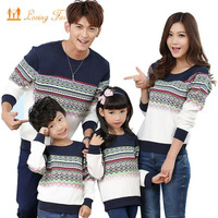 Family Matching Clothes 2017 Autumn Family Clothing Long Sleeve Cotton Mother Daughter Father Baby Girl Boy