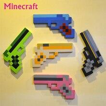 5 Шт./лот Minecraft Игрушки Пены Меч Кирка Gun Игрушки Minecraft Пистолет Модели игрушки ЕВА Реквизит Оружие Открытый Игрушки для Детей Игры мальчики подарок