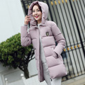2017 Venda Quente de Inverno Mulheres Plus Size Casacos Grossos Mulheres casaco de inverno longo para baixo parka feminino clothing estudantes magro parka casaco