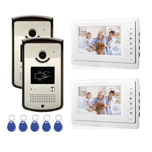 House RFID ID Card Wired Video Door Phone Audio Visual Intercom System Villa 2V2