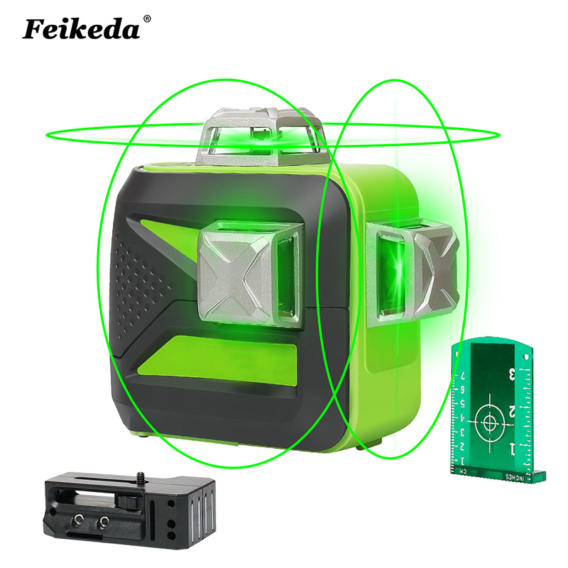 12 lines lithium battery green laser level 360 Vertical And Horizontal Self leveling Cross Line 3D