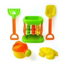 5 шт./компл. детей песчаный пляж играть родитель-ребенок взаимодействия игрушки песок плесень лопатой песочные часы полива инструменты открытые летние игрушки