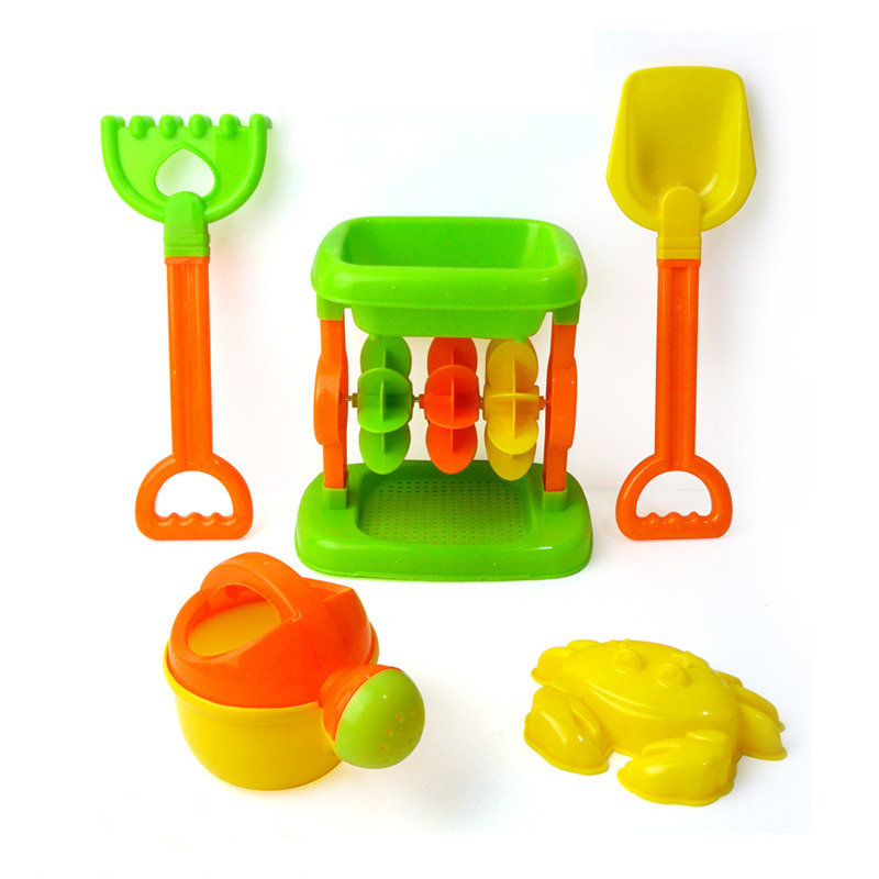 5pcs/set Children Beach Sand Play Parent-child Interaction Toys Sand Mold Shovel Hourglass Watering Tools Summer Outdoor Toys