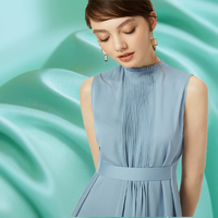 24 colors pure color crepe DE chine 100% silk fabric for satin dress shirt bazin riche getzner tissu tissus au metre tecidos