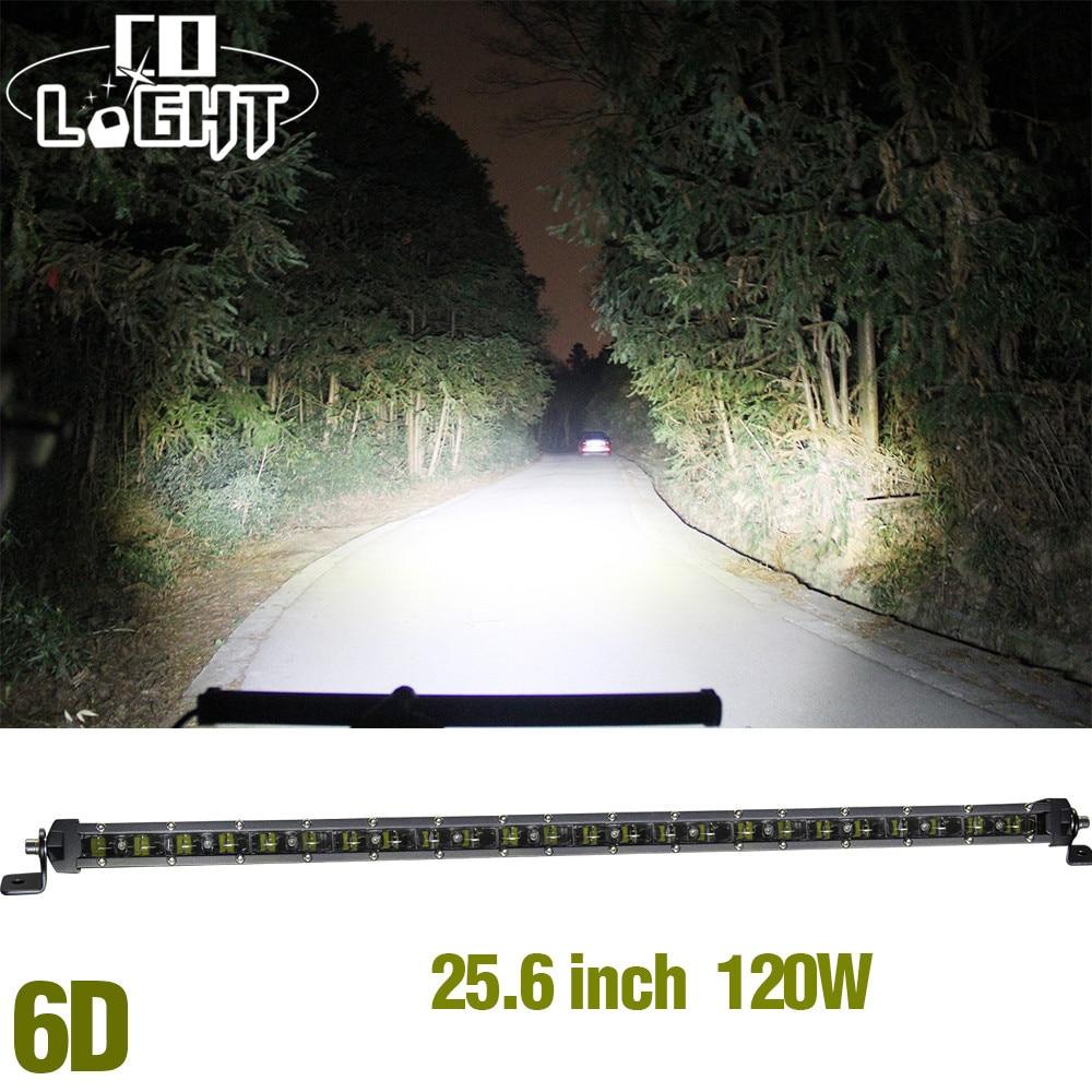 CO LIGHT Car Led Light Bar 25.6120W Super Slim Combo Auto Led Driving Light 12V Work Light for Offroad Lada ATV Uaz 4X4 SUV 4WD