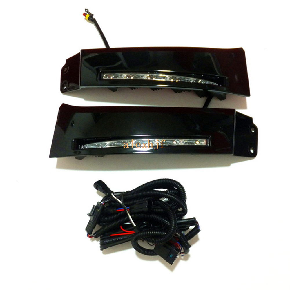 July King LED Daytime Running Lights DRL Case for Toyota Tundra 2007~13 and Sequoia 2008~13, LED Fog Lamp With Black Cover original fuel pump control computer genuine 89571 34070 for toyota yaris crown lexus rc350 300 200t 4runner sequoia tundra