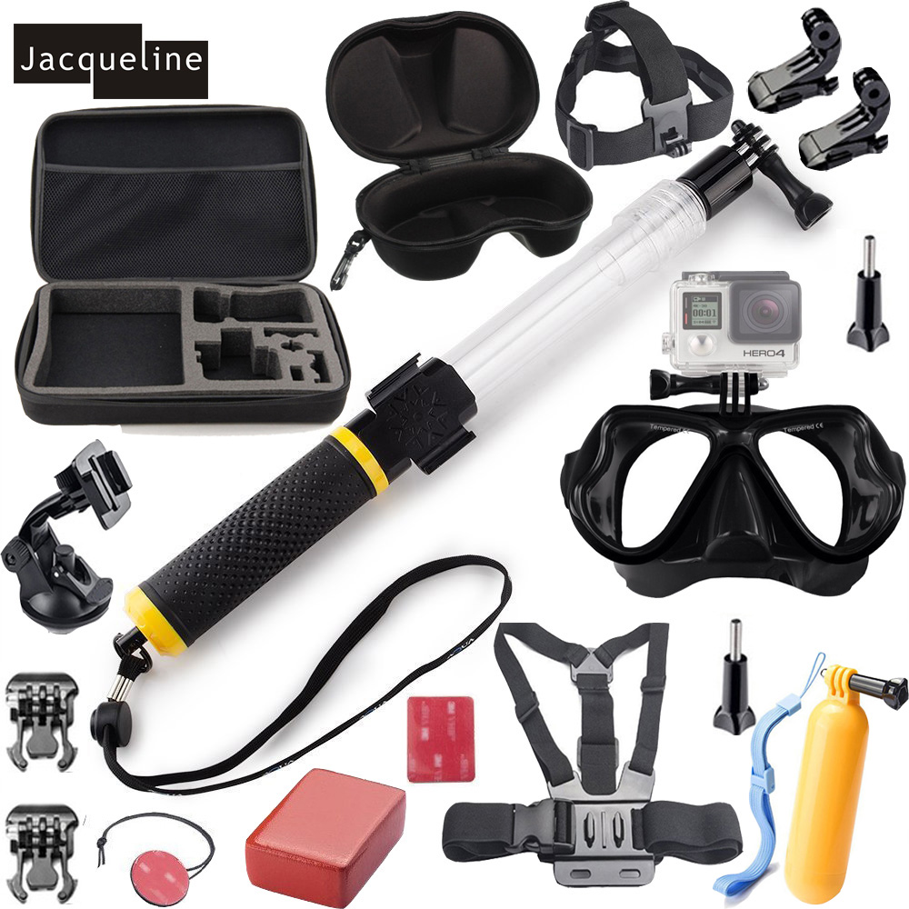 Jacqueline for Diving Underwater Mount Accessories Kit Set for Gopro Hero 5 4 session 3+ 3 2 for SJCAM SJ4000 for EKEN H9R все цены