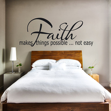 Christian Faith Makes Things Possible Vinyl Wall Sticker Decals Art Wallpaper Living Room Home Decor House Decoration