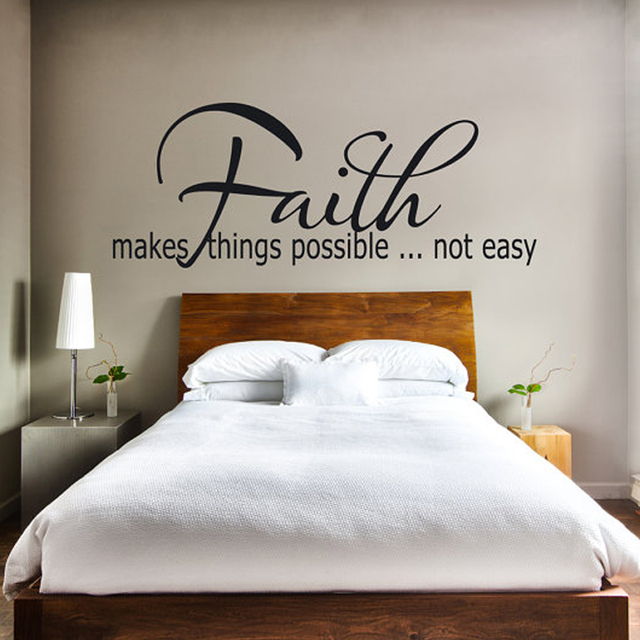 Faith Makes Things Possible Vinyl Wall Sticker Decals Art Wallpaper Living Room Home