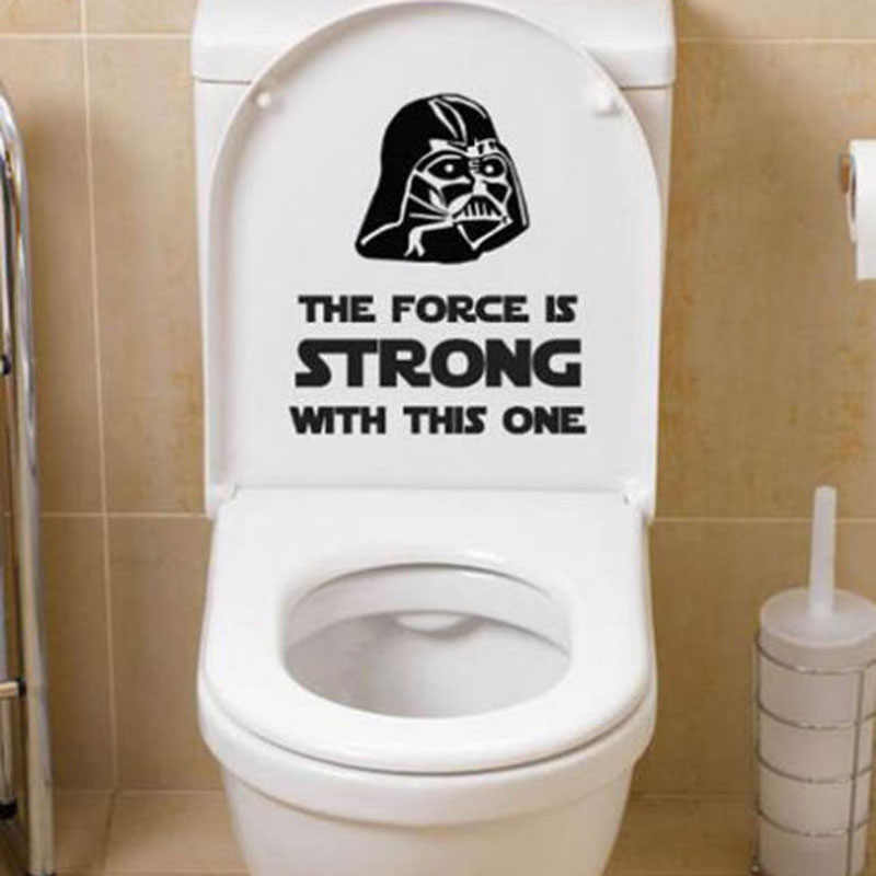 Star Wars Classic Toilet Wall Decals Stickers Decor Home Bathroom Decoration  Black 4WS 0029(