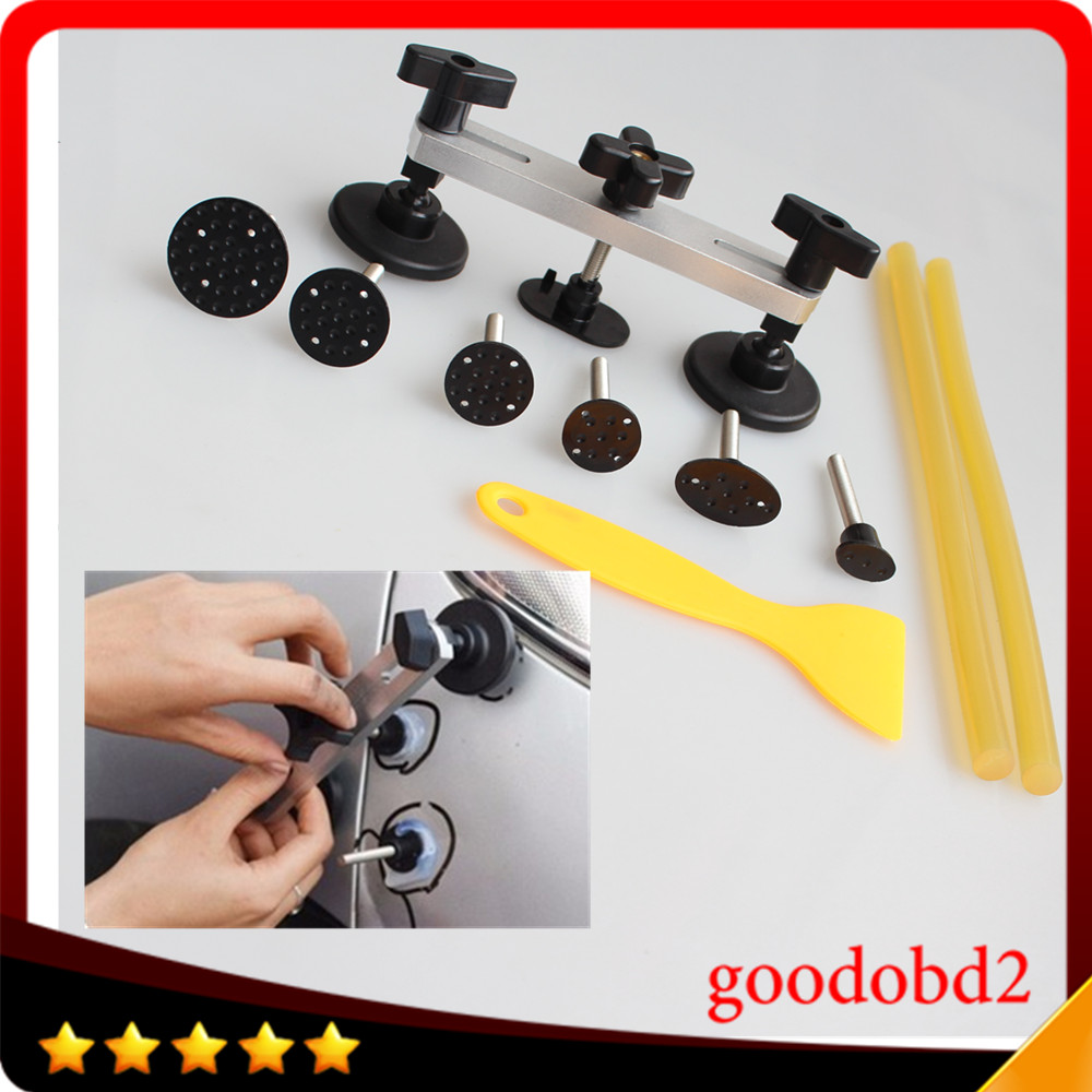 2017 Car auto Body Repair Tool PDR Paintless Dent Repair Tools Pulling Bridge Removal the dents Install Pry Kit for VW, Audi pdr toolkit auto repair tool to remove dents car body repair paintless dent repair pulling bridge 12 v glue gun