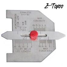 Автоматический датчик размера сварного шва Стыковая арматура филе длина шва Метрическая(мм