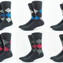Мужские повседневные деловые носки Argyle, размер США 8-11, европейский размер 41-44(очень тонкий материал), 3 упаковки