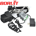 8000Lm 5*XML T6 LED Headlight Headlamp Head Lamp Light 3-mode Bike Bicycle Light + Rechargeable 6*18650 battery+Charger