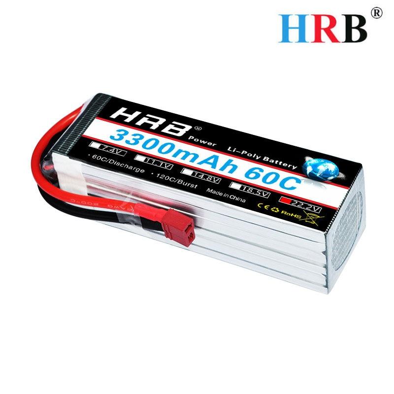 HRB batterie Lipo 6 s 22.2 V 3300 mAh 60C Max 120C Lipo batterie Lipo pour RC FPV voiture Trex 500 600E hélicoptère aligner Trex GAUI ElyQ