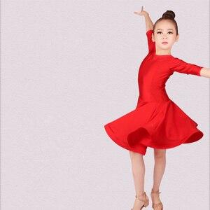 Image 3 - new Latin Dance Dress For Girls Latin Costume Child Kids Dancing Dress Girl Dancewear Kid Competition Latin Dress High Quality