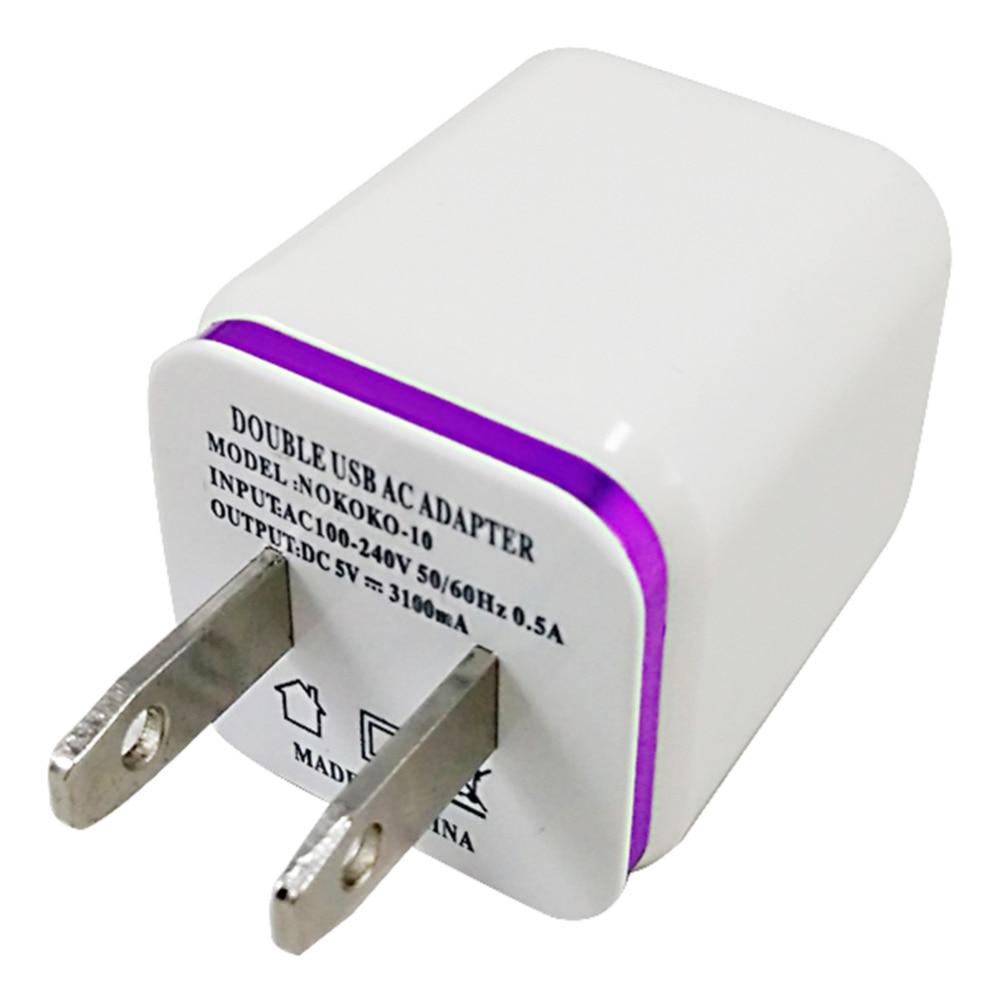 США Plug Dual 2 порта USB Moblie Зарядное - Аксессуары и запчасти для мобильных телефонов - Фотография 5