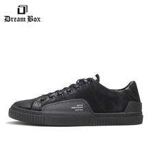 Mens Shoes Leather Fashion Low To help Csual Korean Version Of The Wild Small Black Breathable Retro