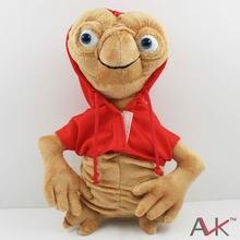 ET – poupée en peluche Extra-terrestre douce avec sweat à capuche, jouet de Collection de dessin animé, rouge, gris, environ 28cm/11 pouces