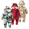 new fashion baby boys winter clothes newborn set wadded jacket thickening Camouflage kids warm rompers