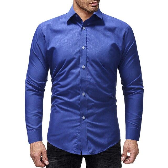 5cc670199 € 10.65 35% de DESCUENTO|Nueva ropa de marca para Hombre 2019 Camisa de  vestir de Hombre de manga larga informal cómoda de moda para Hombre camisas  ...