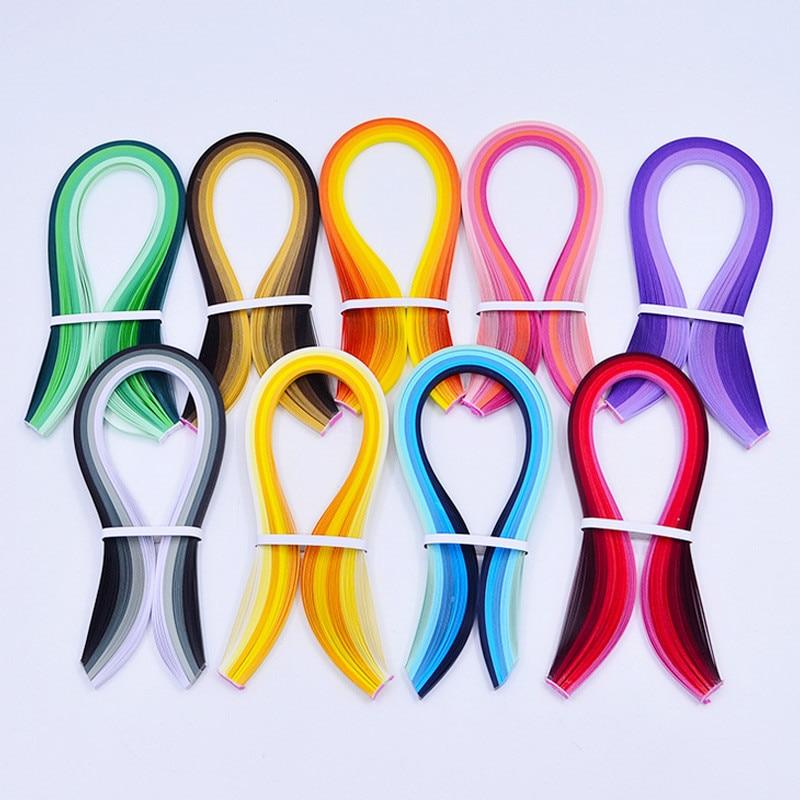 Brown Gradient Color Handcraft 5mm Origami Paper Strips Quilling Paper DIY Home Decoration 39cm Long About 100PCs/Set