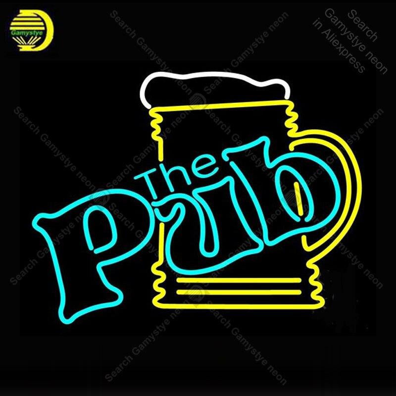 Enseigne au néon pour Pub avec chope à bière ampoules au néon panneau lampe affichage Bar à bière éclairer enseigne murale enseigne au néon pour chambre Letrero Lampara