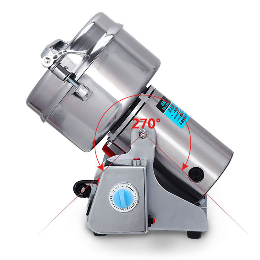 220V/110V Swing Portable Grinder 1000g Spice Food Flour Mill Grain Powder Machine Coconut Chaga Pulverizer Coffee Grinders 1000g swing food grinder milling machine small superfine powder machine for coffee soybean herb sauce grain crops