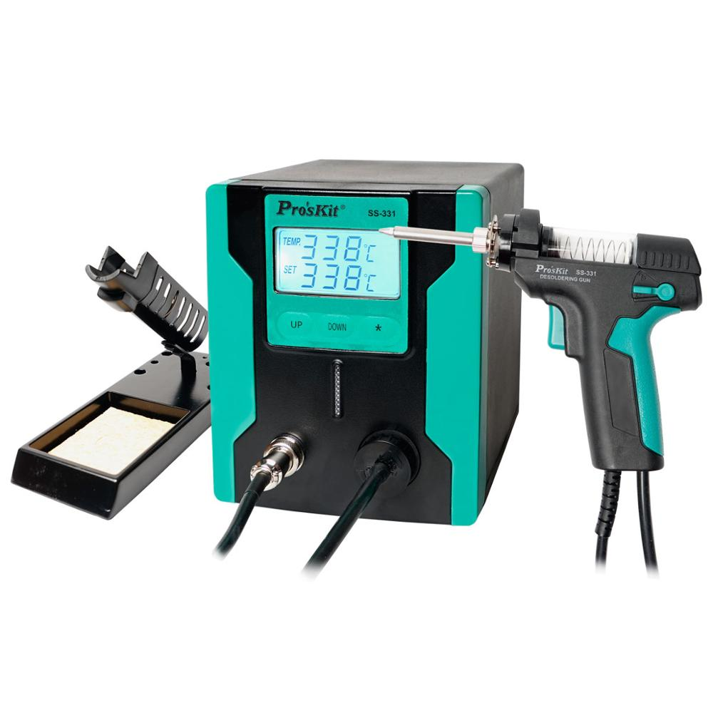 Pro'sKit SS-331H LCD Digital Electric Desoldering Suction Absorb Gun For PCB Chip Soldering Repair