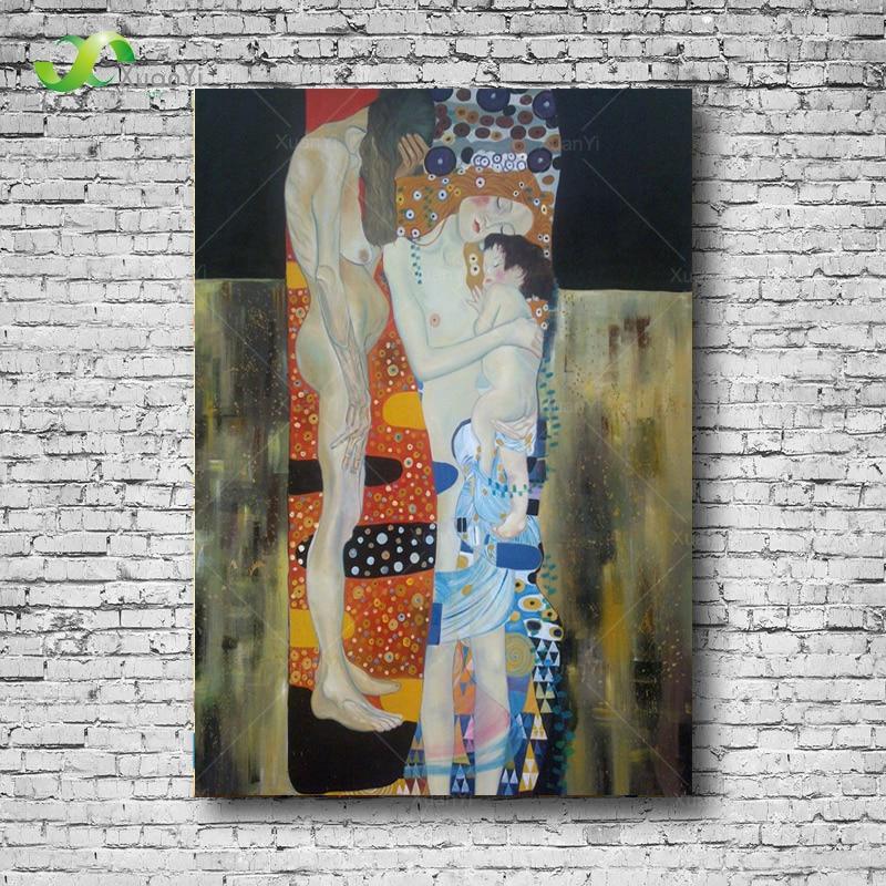 ᐃkadın Gustav Klimt ünlü Yağlıboya üç Aşamaları Oturma Odası Için
