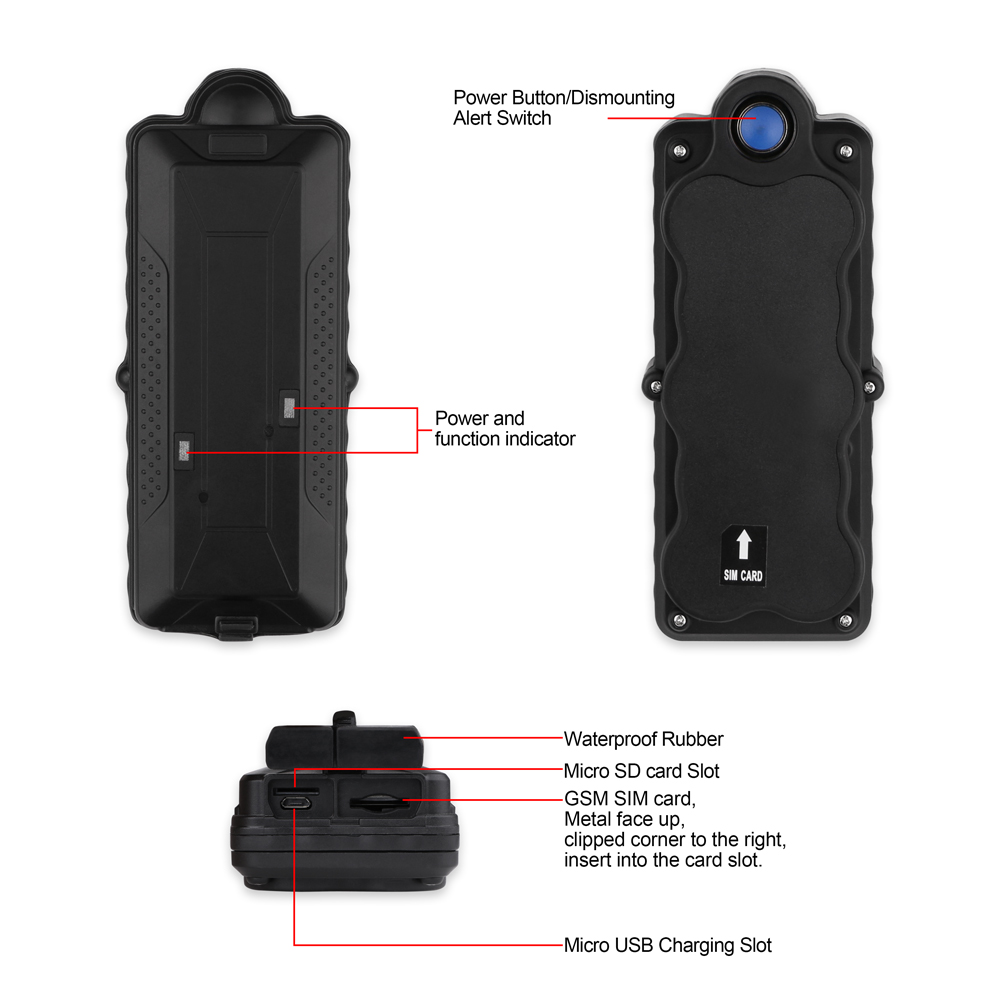 Image 4 - TK10 GPS GSM WIFI Position GPS Tracker Car Waterproof IPX7 Magnet Rastreador SD Offline Data Logger Tracking 10000mAH Battery-in GPS Trackers from Automobiles & Motorcycles