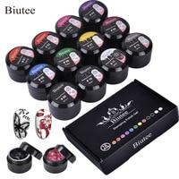 Biutee 12 Colors set 8ml Nail stamping Gel Polish UV Light Cure Manicure Plate Printing gel Soak Off UV LED Gel Polish Kit