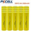 20 шт. 1.2 В aa 1000 мАч перезаряжаемые НИКЕЛЬ-КАДМИЕВЫХ батарей в промышленная упаковка в плоской вершиной, не PCM