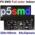 P5 SMD RGB a todo color 320*160mm 64*32 píxeles módulo interior led panel de vídeo 1/16 escaneo para pantalla de publicidad LED