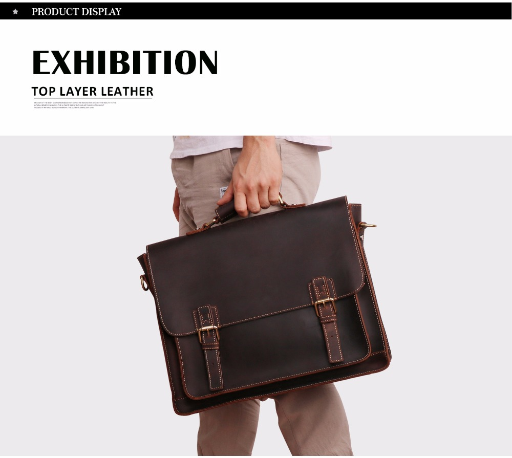 HTB1F6 RBlmWBuNkSndVq6AsApXam JOYIR 2019 Vintage Men's Genuine Leather Briefcase Crazy Horse Genuine Leather Messenger Male Laptop Bag Men Business Travel Bag
