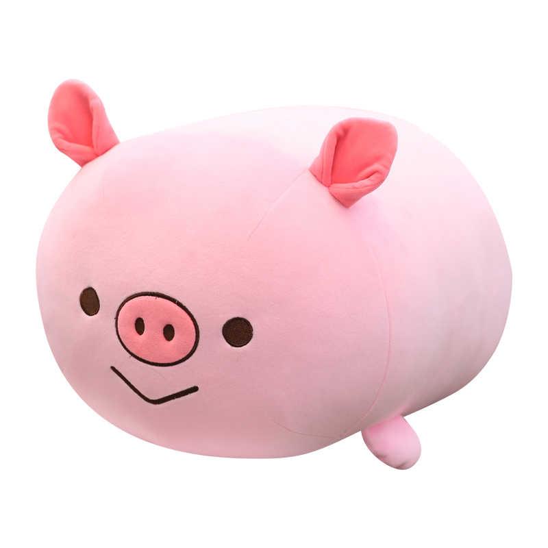 35/65 センチかわいいピンクピギーぬいぐるみかわいい豚ぬいぐるみ鶏の人形ソフトコーギー枕ベビー子供クリスマス誕生日ギフト