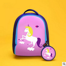 Children unicorn School Bags for Girls Waterproof Backpack Kids Bags High Quality Small Baby Backpack