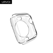 Funda de tpu suave URVOI para apple watch series 4 3 2 parachoques para iwatch funda de reloj protector slim fit Ultra- delgado Marco de banda(China)