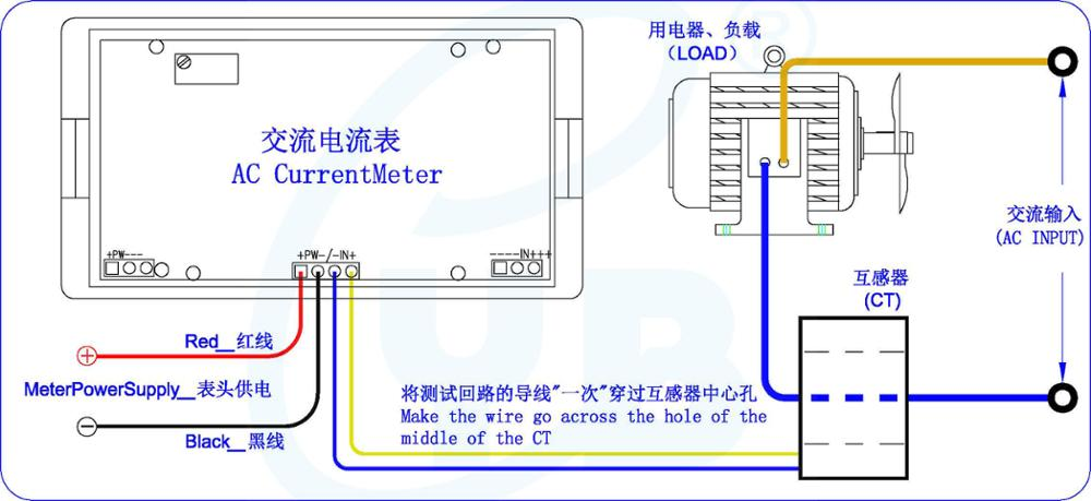 Current Meters Provided Yb5135d Current Meter Ac 200ua 20ma 200ma 20a 50a Ac Ampere Meter Ammeter Include Ct Current Transformer Ac 100a 200a 500a 1000a