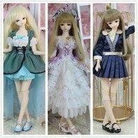 Дни Фортуны 1/4 bjd куклы 45 см золотой волосы средства ухода за кожей с одеждой обувь парик принцессы куклы, подарок для девочек