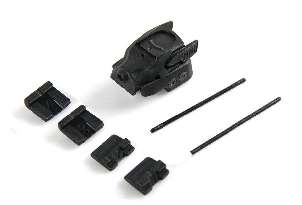 1 pc Noir Polymère Tactique Universal Mini Pistolet Pistolet Glock Rouge Laser Sight Rail Accessoire Pour La Chasse Fusil Airsoft tir