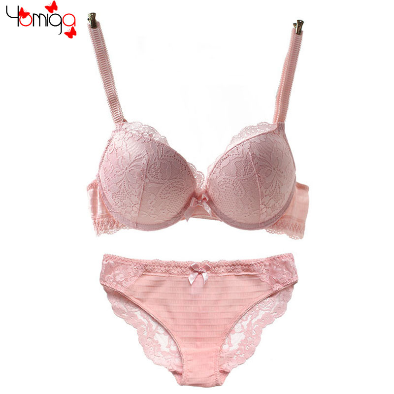 f305bf323a00 Hot Women Full Lace Bra Underwear Lingerie Cute Girls Matching Bra Panty  Sets Sexy Push Up Womens Bras And Underwear Sets