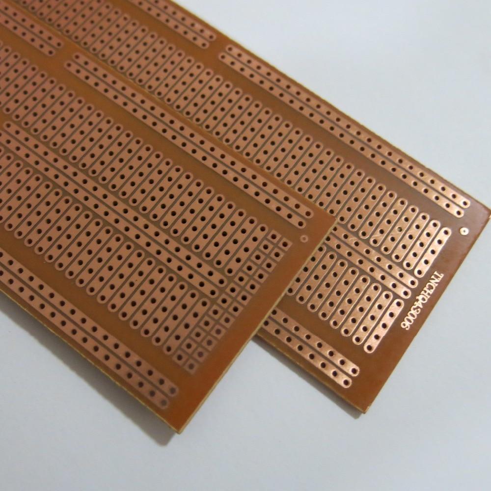 5pcs Lot Stripboard Veroboard Vero Prototype Print Circuit Board 64 Prototypes Multi Boards Universal Single Side 47x132cm Uncut Joint