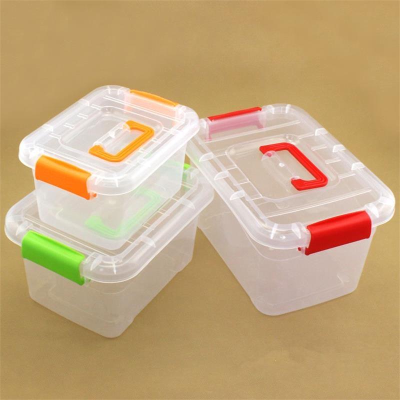 2018New portable desktop storage box Transparent Plastic Storage Box