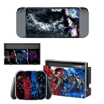 Game Bayonetta 2 Decal Vinyl Skin Protector Sticker for Nintendo Switch NS Console + Controller + Stand Holder Protective Skin